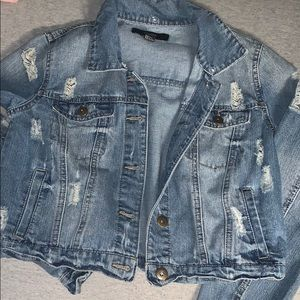 Women's Forever 21 Cropped Jean Jacket